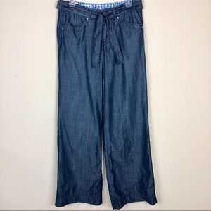 Tommy Bahama Wide Leg Chambray Pants - Sz 6